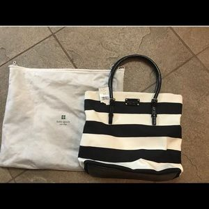 Kate Spade Tote - Black & White Stripe